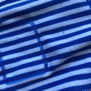 Lucy Tops - 🐠LUCY Blue/White Stripe Pullover 3/4 Zip Sz S/M